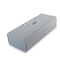 Portable Bluetooth Speaker - Wireless Travel Speakers and Phone Charger for iPhone, iPod, and Android Phones - With Aux Input, Deep Bass, and Stereo Sound by Avilana