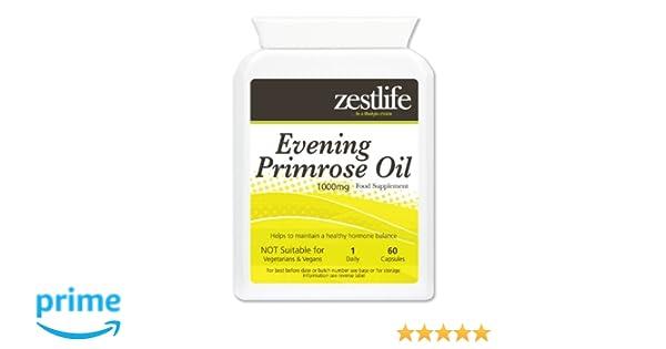 Zestlife aceite de onagra cápsulas 1000mg - 60 fácil de tragar cápsulas de gel * EN OFERTA ESPECIAL *: Amazon.es: Salud y cuidado personal