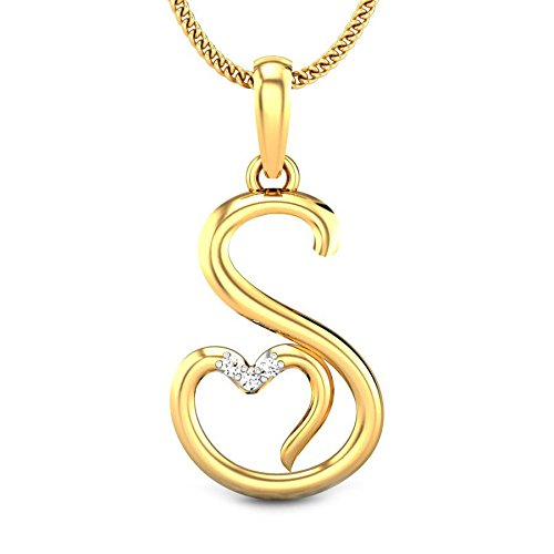 Buy Candere By Kalyan Jewellers S Love 14k Yellow Gold and Diamond Pendant  for Women Online at Low Prices in India  ee1af6520