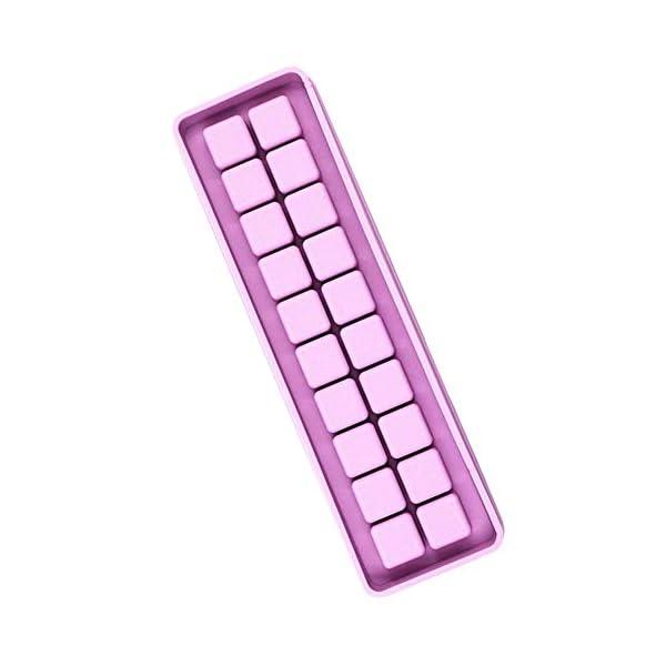 UMTGE - Vaschetta per cubetti di ghiaccio, in silicone e flessibile, 20 vassoi per ghiaccio, per bambini, con caramelle… 1 spesavip