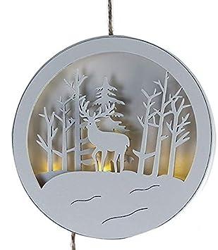 Weihnachtsdeko Fenster Holz.Amazon De Weihnachtsdeko Fenster Bild Led Winter Landschaft Aus
