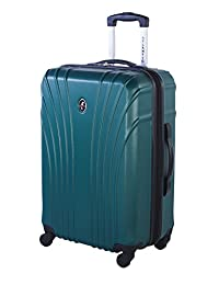 Atlantic Beaumont Large Checked Luggage - Hardside Expandable Spinner Luggage 28-Inch, Teal