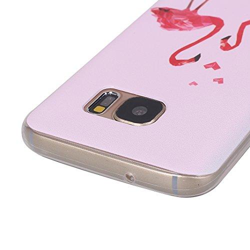 Fundas Galaxy S7, Funda Silicona Galaxy S7, Moon mood® Cubierta Suave Funda Case de Silicona TPU para Samsung Galaxy S7 SM-G9300 5.1 pulgada Slim Caso Trasero Resistente a las Rayaduras Pintura en Rel Bird