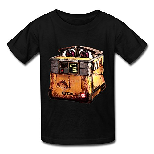 Price comparison product image Best Graphic Boys & Girls WALL-E Robot Movie Cartoon Poster T-shirt Black Size M
