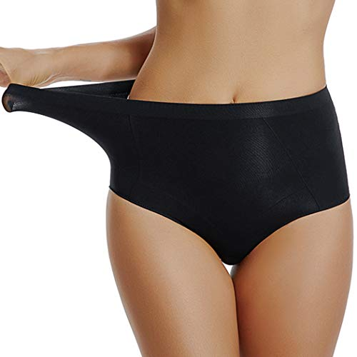 Firm Panties for Women Shapewear for Women Tummy Control Underwear High Waist Underpants Brief (Black, S)