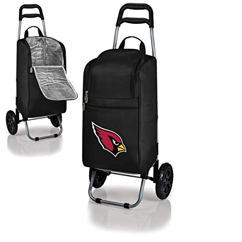 MISC 2 Piece Black Red NFL Themed Cart Cooler, Arizona Cardinals Beer Bag, White Cardinal NFC Beverage Trolley Portable Ultra Durable Football Logo Gift Tailgate Bag, Polyester