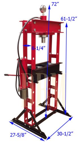 Heavy Duty 30 Ton Air Hydraulic Shop Press