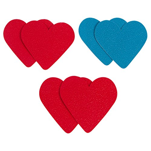 Heart Brakers Anti-Slip Shoe Grips By Heels Above-The Safest & Most Stylish Sole Protection For Heels & Flats-3 Pairs Of Skid Proof Pads-Easy Self-Adhesive Patches That Add Traction -