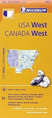 Michelin USA: West, Canada: West Map 585 (Maps/Regional (Michelin))