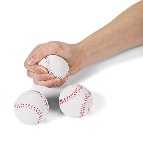 Foam Relaxable Realistic Baseball Sport Balls (1 dz) by Fun Express