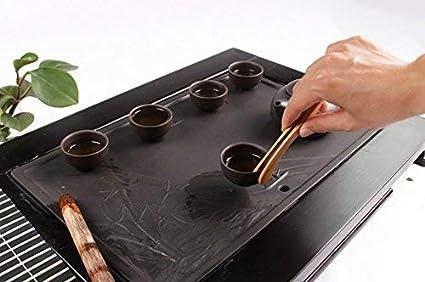 2/x Spaufu pinze pinze in legno di bamb/ù lungo clip per tazze da t/è morsetto cucina toast Teahouse di 2pcs Style a