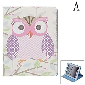 Nsaneoo - Stylish Owl Pattern Protective PU Leather Case Cover Stand for iPad 2 / 3 / 4 , D