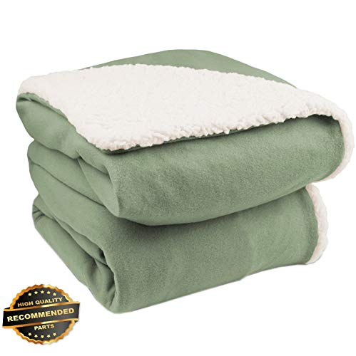 Gatton Analog Comfort Knit Electric Heated Throw Blanket wit