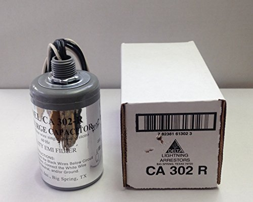 Delta CA302-R 2-Pole 125/250V Single Phase Surge (Single Phase Capacitor)