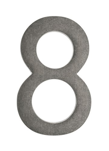 Architectural Mailboxes 3585APA-8  5 in. Brass Floating House Number 8, Antique Pewter by ARCHITECTURAL MAILBOXES