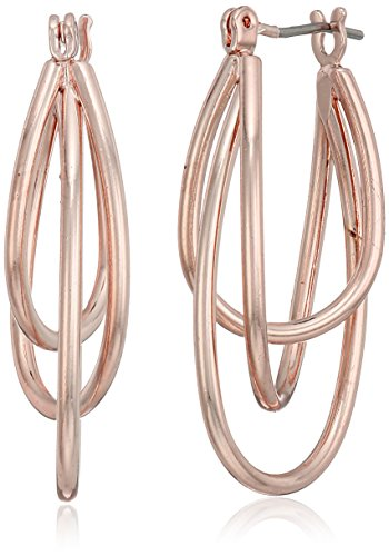 t-tahari-rose-gold-oval-triple-hoop