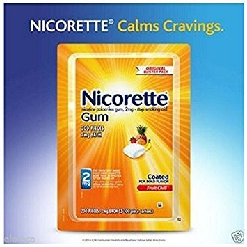 Nicorette Gum, Fruit Chill Flavor, 2 mg, 200 Count