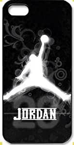 Air Jordan Apple Iphone 5/5s Hard Plastic Protector Cover Case Michael Jordan Logo Gift Idea-black&white
