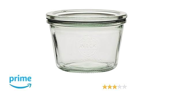 /3/Unidades Weck Conservas con tapa de cristal/ /Cantidad de relleno: 370/ml/ /Botes forma/