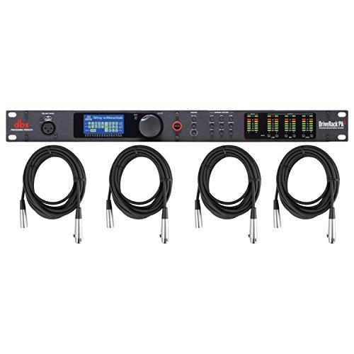 (DBX Drive Rack PA2 P.A. Processor w/ 4 XLR Cables)