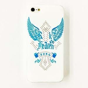 Mini - Punk Wings Cross Pattern Plastic Hard Case for iPhone 5/5S , Color: Multicolor