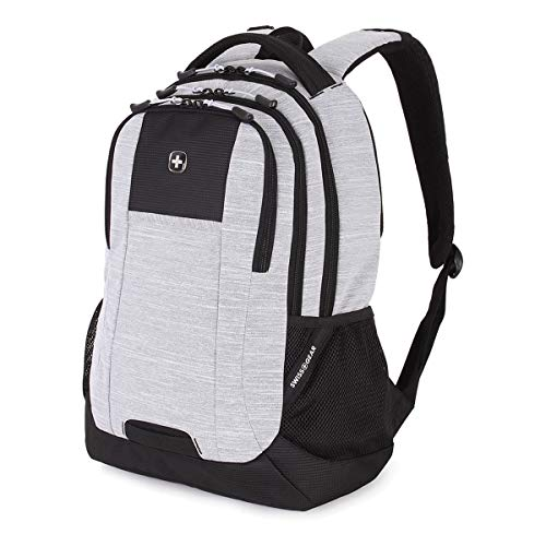 SWISSGEAR 5505 Laptop Backpack Men's and Women's - Light Gray Heather/Black - Special Edition (Best Looking Laptop Backpack)