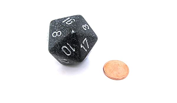 Jumbo d20 Counter - Speckled 34mm Dice: Ninja by Chessex ...