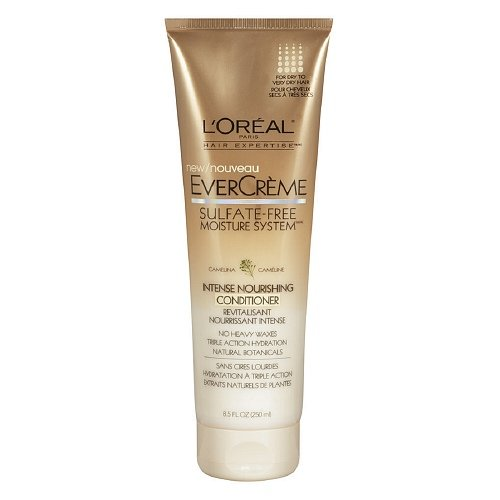 L'Oreal Paris EverCreme Sulfate-Free Moisture System Intense Nourishing Conditioner 8.5oz (Pack of 2) ()