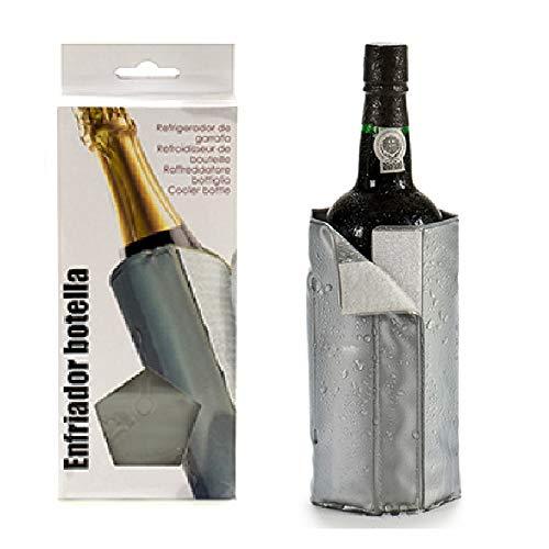 BigBuy Home Enfriador De Botellas Plata (0,5 X 18,5 X 30 Cm)