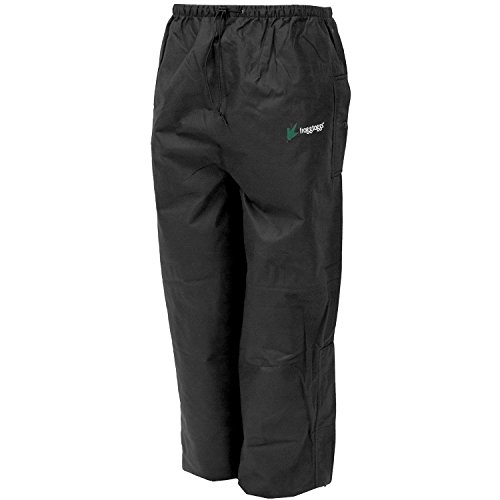 Packable Rain Pants - Frogg Toggs Bull Frogg Pant, Black, Size Large