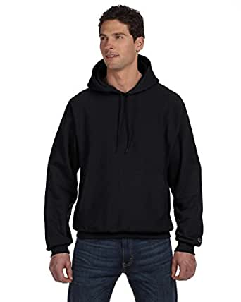 Champion Men's Men' Reverse Weave Fleece Pullover Hoodie, Black, Small
