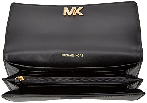 8af12f498a526 Buy Michael Kors Mott Large Clutch Wallet in Black Online at Low Prices in  India - Amazon.in