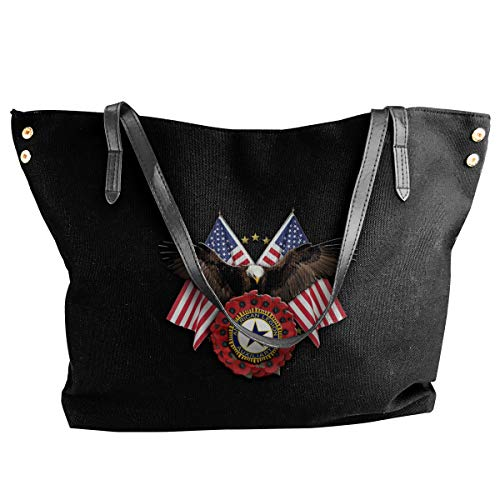 Women's Stylish Casual Tote Bag Canvas Travel Bags - American Legion Auxiliary Deluxe Printing Shoulder Bags -