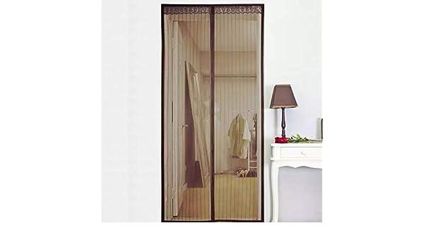 Mosquitera para puerta Protección,Corredera Cortina Mosquitera Magnética para Puertas Cortina de Sala de Estar la Puerta del Balcón Puerta Corredera de Patio-95x230Cm(37x91Pulgada)-Marrón: Amazon.es: Bricolaje y herramientas