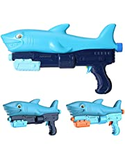 PowerKing Shark Water Gun for Kids, Pools Toys, Summer Water Toys, Childhood Toys, Outdoor Beach Toys for Boy Girls Toddlers Age 3 4 5 6 7 8 9 (2 Pack)