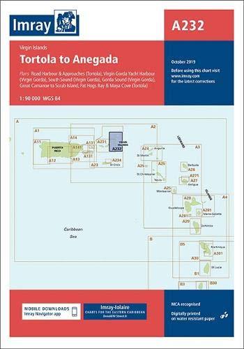 Imray Chart A232  Virgin Islands Tortola To Anegada  Imray A Charts Band 232