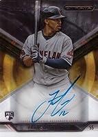 2015 Topps Strata #SA-FL Francisco Lindor Certified Autograph Baseball Rookie Card
