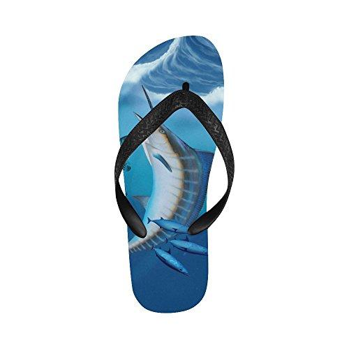 D-etasjers Marlin Fish Flip Flops Strand Sandaler For Menn / Kvinner
