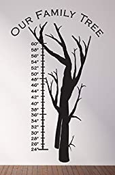Growth Chart Family Tree Wall Decals Stickers, Black, 48\