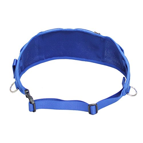 Ondoing Dog Treat Training Pouch with Poop Bag Dispenser Running Belt Waist Pack Fanny Pack Carries Treats Keys Cellphone Adjustable Waistband