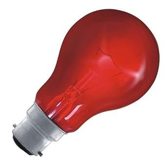 Status Incandescent GLS Fireglow Light Bulb Large Bayonet Cap Pack of 10