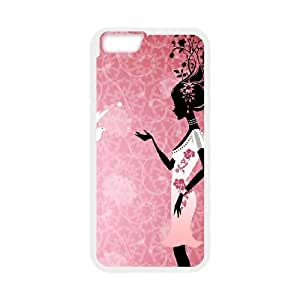 vector woman 1207015 iPhone 6 Plus 5.5 Inch Cell Phone Case White yyfD-403161