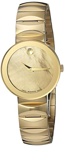 Movado Women's Swiss and Stainless-Steel-Plated Quartz Watch, Color:Gold-Toned (Model: 0607049)