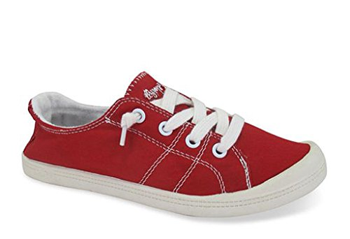 Jellypop Women's Dallas Sneaker Red Canvasfashion-Sneakers 11 B(M) US
