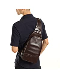 Gumstyle® Super Cool Men Leather Casual Cross Body Chest Pack Camping Hiking Shoulder Bag