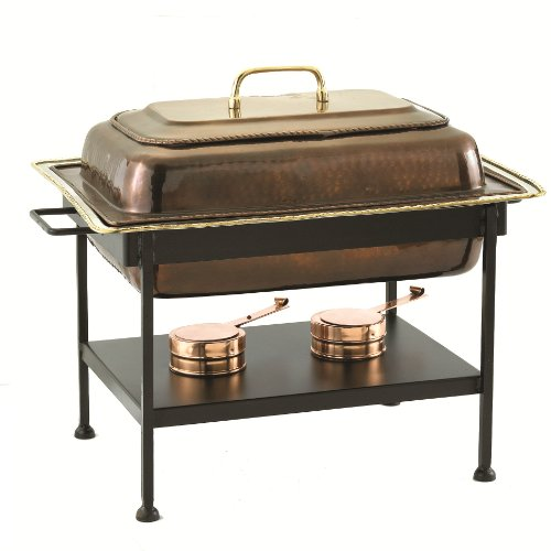 Antique Copper Chafing Dish - Old Dutch 21