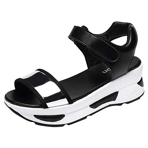 Women's Flip Flops Beach Walking Slippers Shower Shoes Velcro Sandals Open Toe Damping Thick Bottom Sandals Silver (Willow Landscaping Gates)