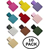 10 Pack - Colorful Pen Loops, Self Adhesive Pen Holder with Elastic Loop - Designed for Journals, Notebooks, Calendars and Clipboards