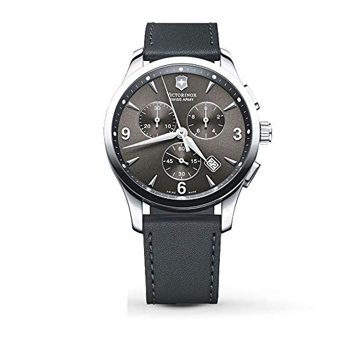 - Victorinox Alliance Black Dial Leather Strap Mens Watch 241479XG (Renewed)