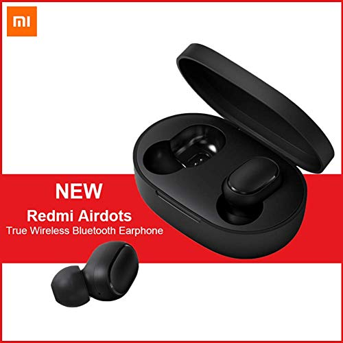 Xiaomi Redmi Airdots, TWS Bluetooth 5.0 Earphone Stereo Bass Wireless Headphones 300mAh Charging Box True Stereo Sound Mini Wireless Earbuds IPX4 Sweatproof Bluetooth Earphones with Mic AI Control